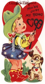 You're My Brand Valentine Vintage Card