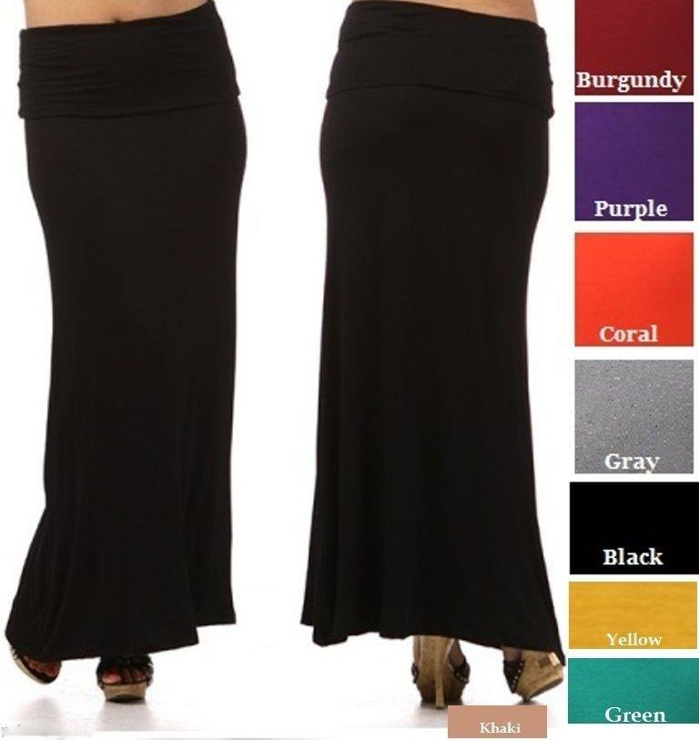 COWGIRL GYPSY SKIRT Banded Waist PLUS SIZE Long Western maxi Skirt