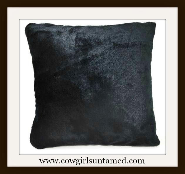 COWGIRL GYPSY DECOR Black Faux Fur 16