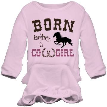 "COWGIRL STYLE INFANT ""Born to Be A Cowgirl"" NEWBORN Pink Western Nightgown"