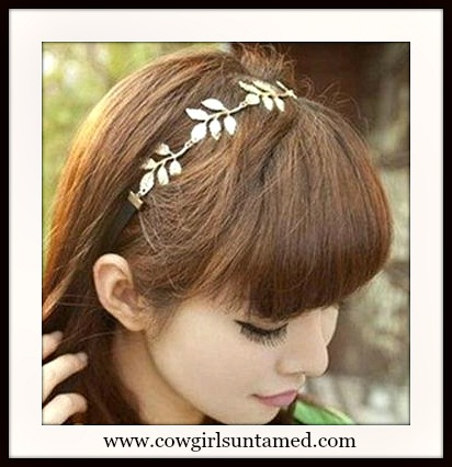 WILDFLOWER HEADBAND Gold Leaf Boho Headband