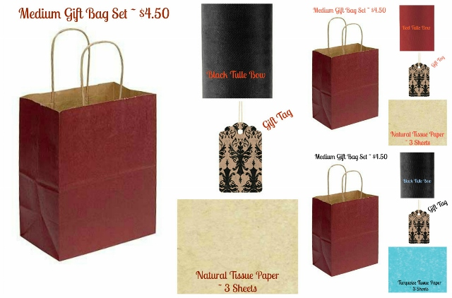 GIFT BAG SET - MEDIUM - Save Yourself Time and Get a Medium Gift Bag With Your Medium Item Order
