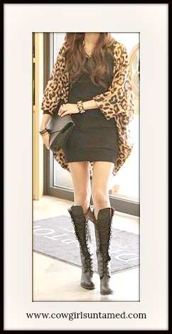 55763e1d2 COWGIRL GYPSY JACKET Leopard Chiffon Open Kimono Jacket Cardigan