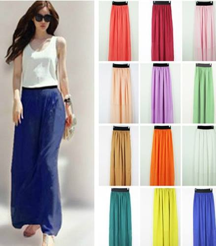 COWGIRL STYLE Chiffon Long Western Maxi Skirt Red Pink Teal Black ...