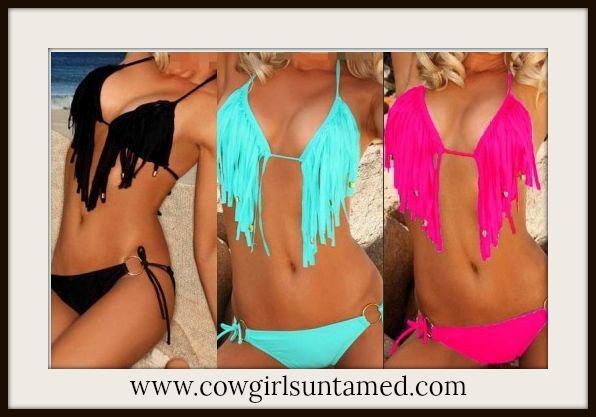 COWGIRL GYPSY BIKINI Fringe & Tassel Western String Bikini