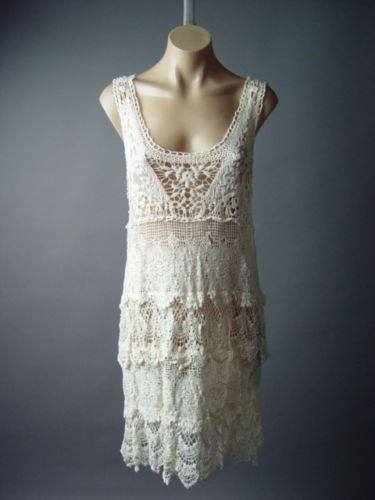 COWGIRL GYPSY TOP Cream Lace and Ruffle Tank Top Style Sheath Western Dress