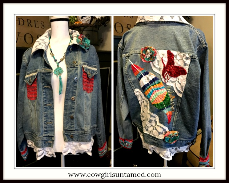 BOHEMIAN COWGIRL JACKET Hand Embroidered