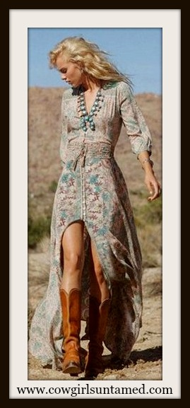 WILD FLOWER DRESS Floral Long Boho Maxi Dress