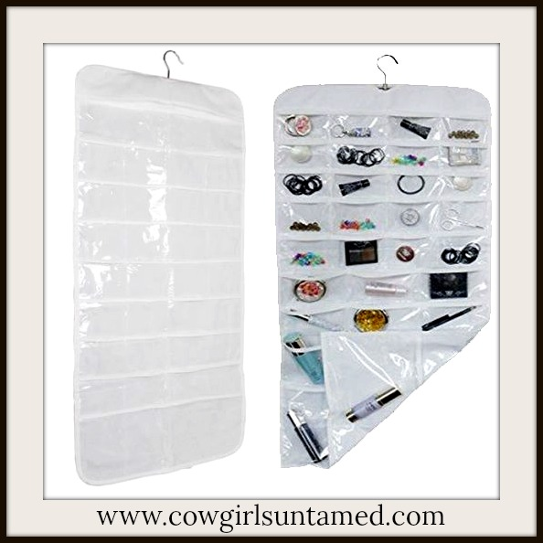 JEWELRY ACCESSORIES Hanging White Jewelry Organizer / Holder