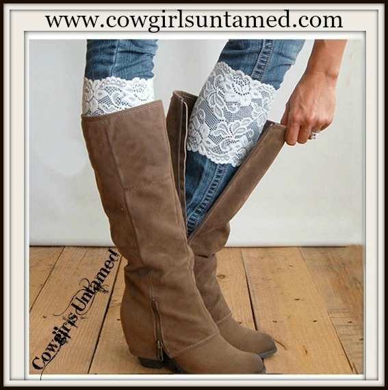 WILDFLOWER BOOT GARTER  Stretchy Lace Boot Cuff Toppers