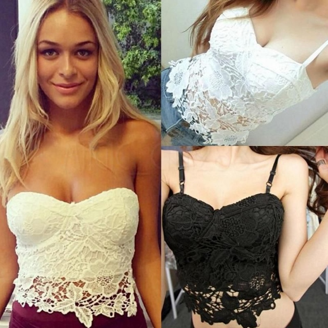 COWGIRL GYPSY TOP Crochet Lace Sweetheart Neckline Western Corset Top