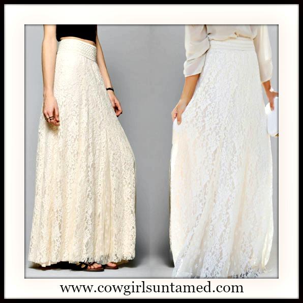WILDFLOWER SKIRT Beautiful Lined Lace Boho Maxi Skirt