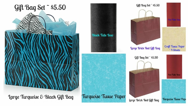 GIFT BAG SETS - Large - Save Yourself Time and Get a Large Gift Bag With Your Garment Order