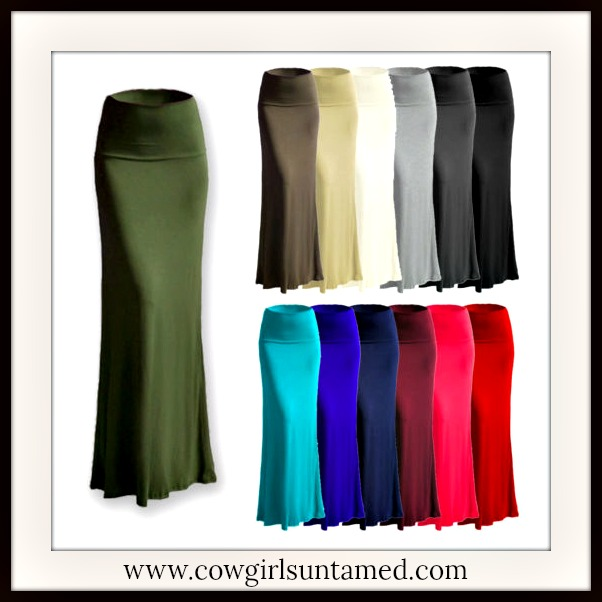 BOHEMIAN COWGIRL SKIRT A-Line Misses and Plus Boho Maxi Skirt