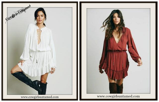WILD FLOWER DRESS Ruffle Long Bell Sleeve Boho Mini Dress