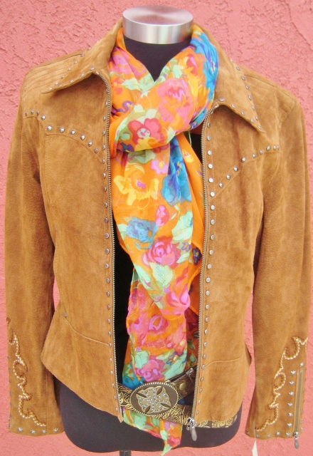 COWGIRL GYPSY SCARF Orange Aqua Turquoise Lime Green Hot Pink Purple Violet Olive Green Blue Stylish Multi-Color Floral Western Scarf Shawl