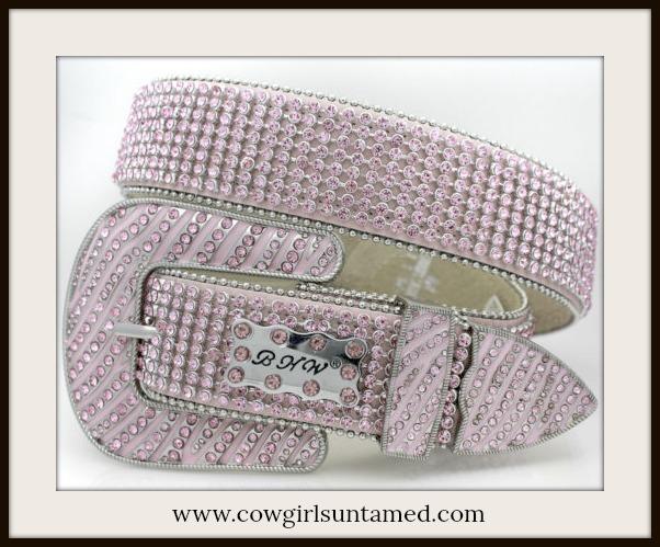 COWGIRL GLAM BELT Beautiful Pink Rhinestone and Buckle Belt