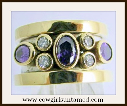 COWGIRL GLAM RING Purple Amythest Gemstone Sterling Silver Ring