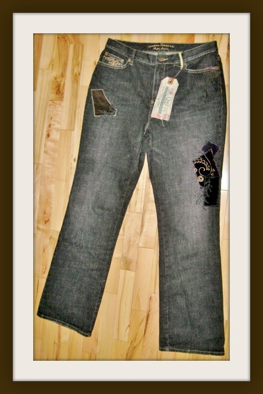 COWGIRL GLAM JEANS Boot Cut Velvet Patch Embroidery & Beading Designer Western Denim Jeans by RALPH LAUREN