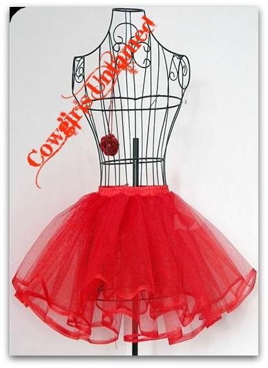 COWGIRL PETTICOAT Mesh 2 Tier Tulle Mesh Petticoat Undergarment