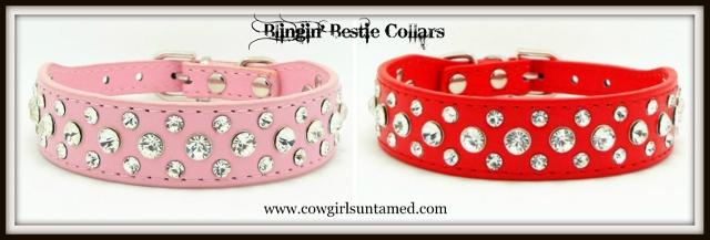 BLINGIN' BESTIES Rhinestone Studded Collar