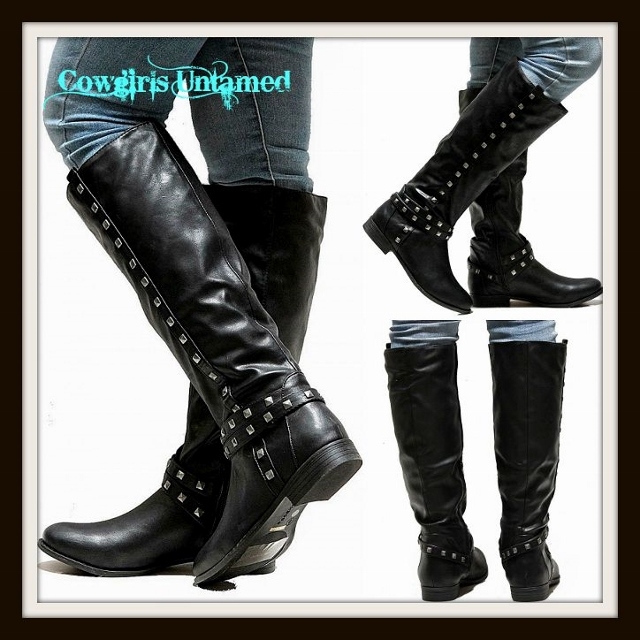 style boots silver studded with inside zipper