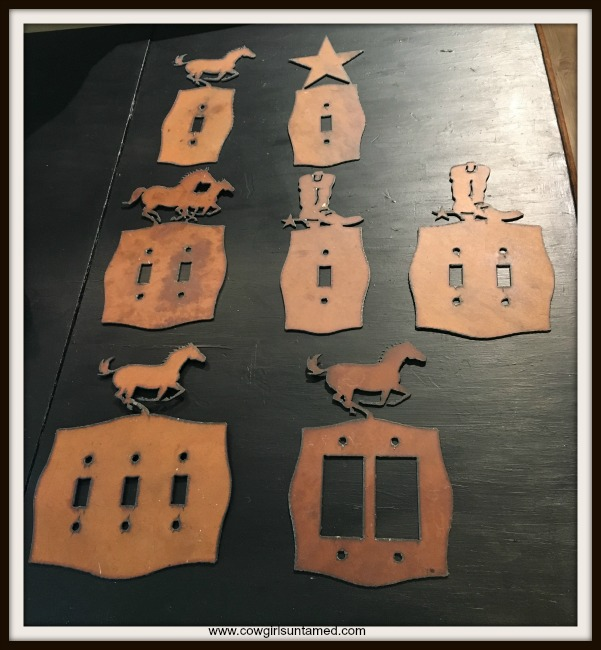 COWGIRL HOME DECOR Rustic Metal  Western Switch Plate ARTISAN MADE CHOOSE YOUR DESIGN