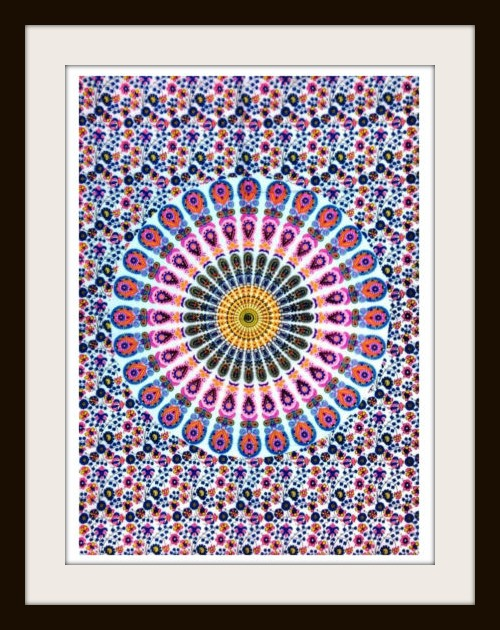 BOHEMIAN HOME DECOR Mandala Barmeri Paisley Floral Neon Cotton Wall Hanging