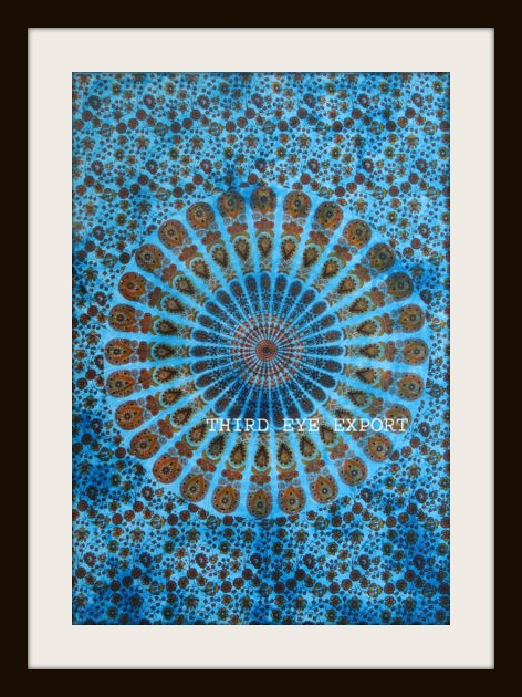 BOHEMIAN HOME DECOR Mandala Barmeri Paisley Floral Cotton Wall Hanging