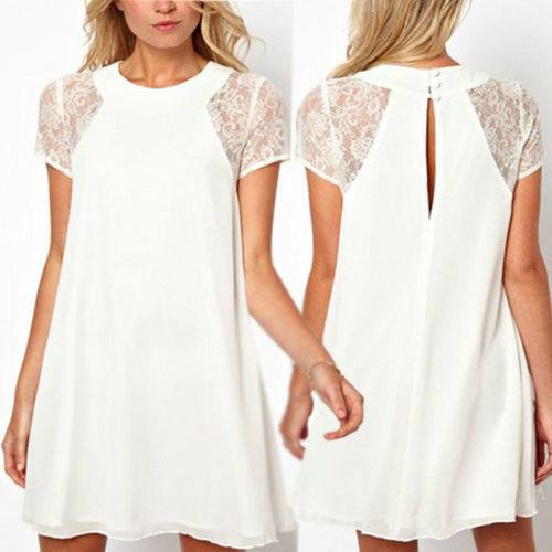 COWGIRL STYLE DRESS Lace Cap Sleeve Chiffon Loose Fit Western Mini Dress or Tunic Top
