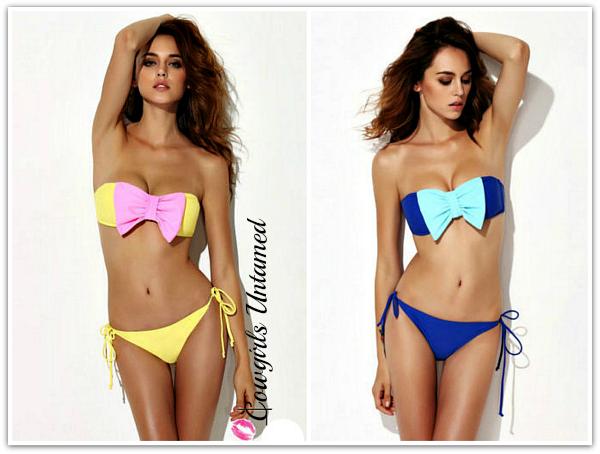 SOUTHERN BELLE BIKINI Big Bowknot Bandeau Padded Bikini Bathing Suit