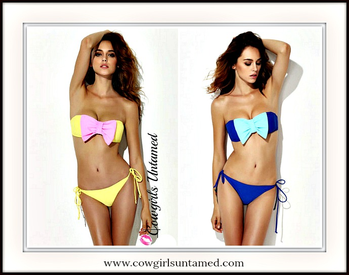 SOUTHERN BELLE BIKINI Big Bow Bandeau Padded Bikini