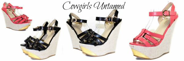 COWGIRL GYPSY SHOES Stylish Strappy Wedge Shoes