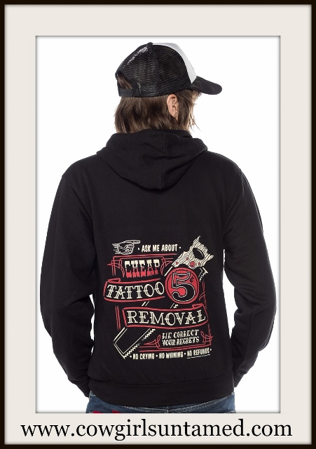 COWBOY STYLE SWEATSHIRT Black and Red