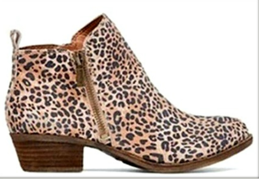 ON THE PROWL BOOTS Black & Brown Leopard Print Ankle Boots LAST ONES 7 & 8