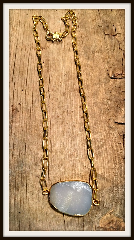 WILDFLOWER NECKLACE Natural Purple Amethyst Druzy Gemstone Gold Short Boho Necklace