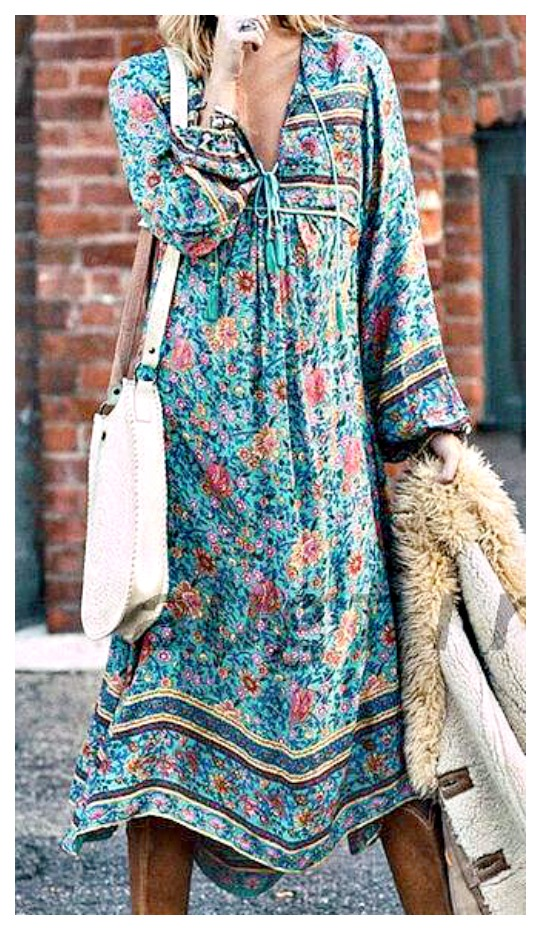 WILDFLOWER DRESS Aqua Blue and Pink Floral Boho Maxi Dress ONLY S & L LEFT