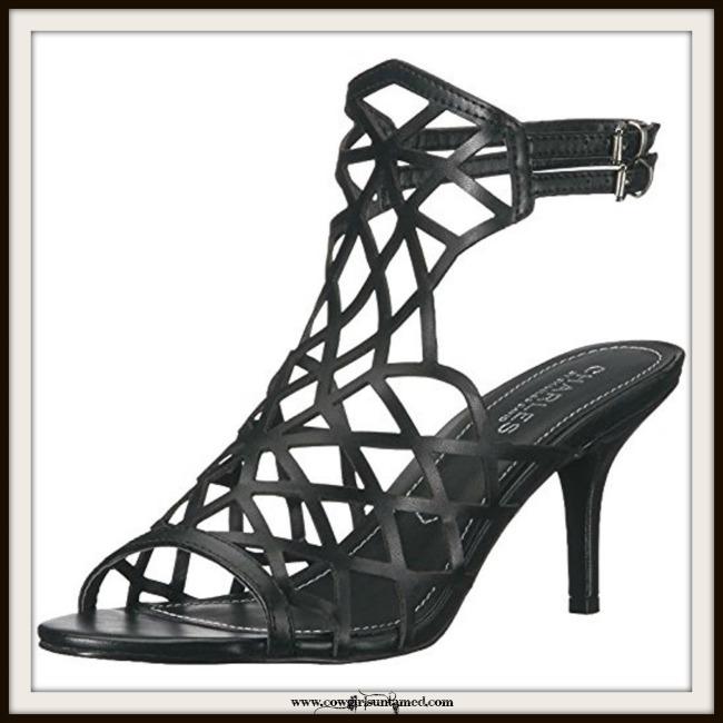 COWGIRL GYPSY SANDALS Black Dress BOHO High Heel Sandals