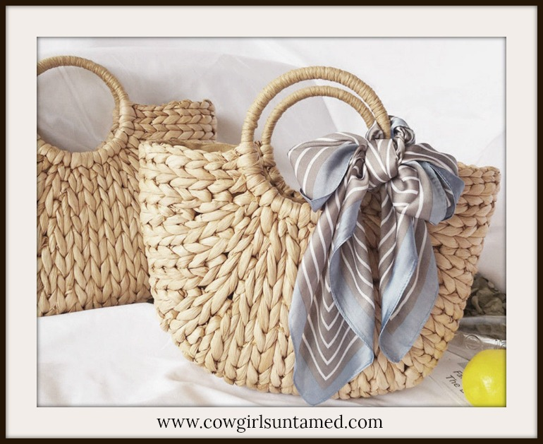 MAGNOLIAS BLOOM BAG Braided Hyacinth & Cotton Boho Bag