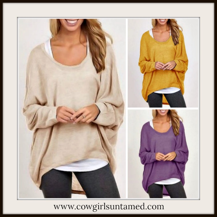 WILDFLOWER SWEATER Scoop Neck Batwing Sleeve Oversized Pullover Sweater