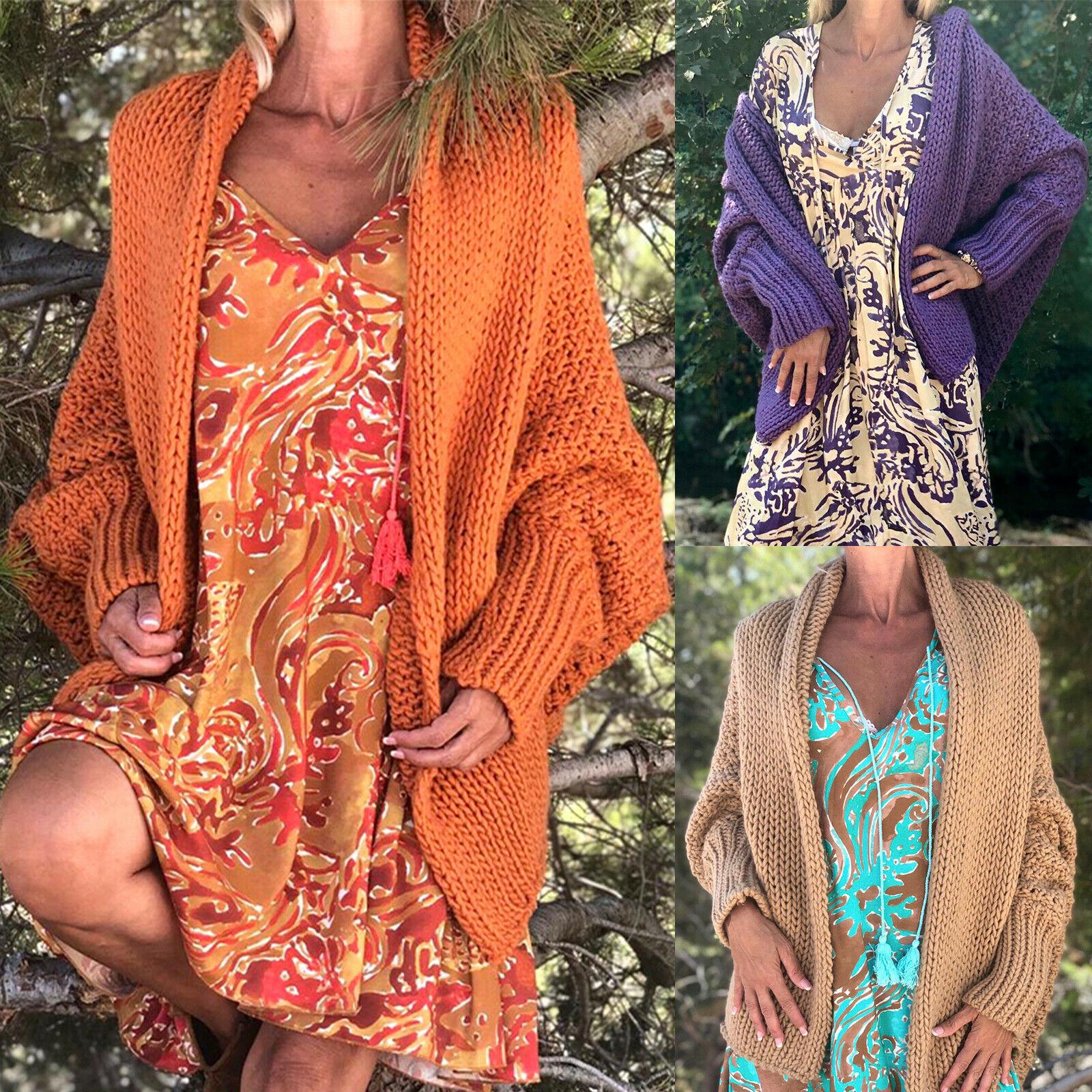 THE JENNIFER CARDI Batwing Long Sleeve Knit Open Cardigan Sweater - 3 Colors - Misses/Plus Size