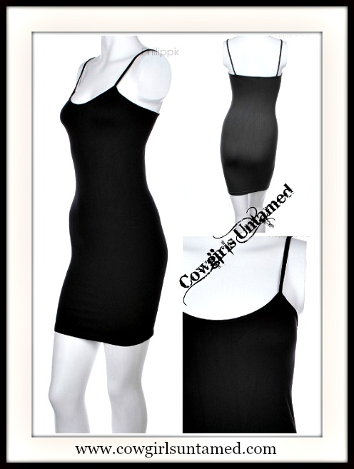 COWGIRL STYLE LINGERIE Fitted Scoop Neck SEAMLESS Slip - 3 COLORS!