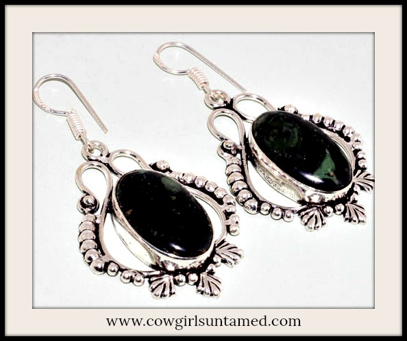 COWGIRL GYPSY EARRINGS Kambaba Jasper Silver Earrings