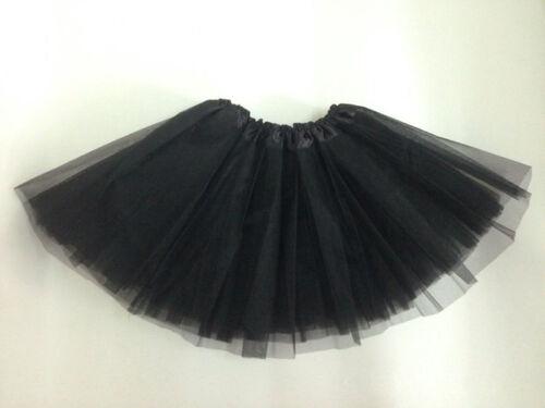 "COWGIRL PETTICOAT Black 3 Layer Tier Tulle Mesh Petticoat Undergarment Skirt 17"" Long"