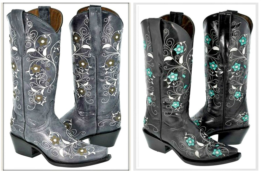 WILDFLOWER BOOTS Embroidered Floral GENUINE LEATHER Cowgirl Boots SIZES 5-11