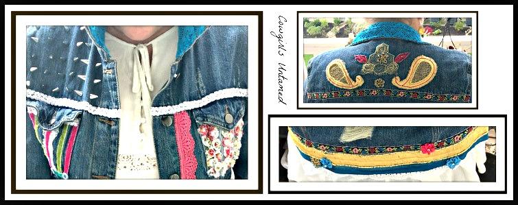 Hand Stitched Embellished Lace Beaded Sari Velvet Ribbon
