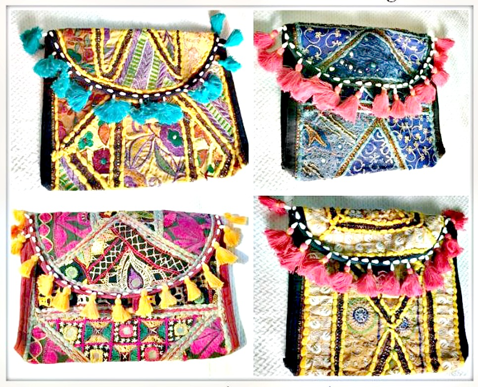BANJARA BOHO BAG Handmade Fabric Patchwork Bohemian Vintage Shoulder Bag
