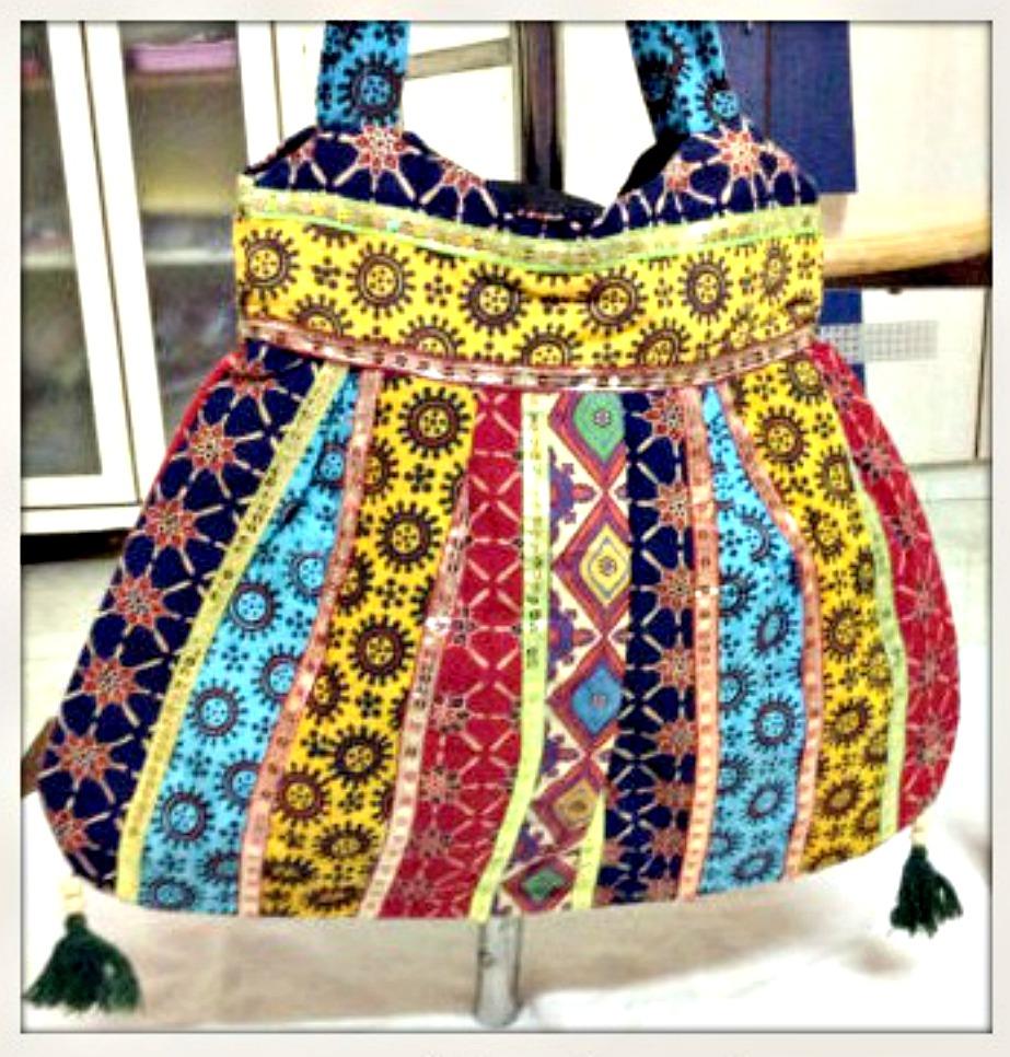 BOHEMIAN STYLE BAG Mixed Pattern Multi Color Boho Shoulder Bag