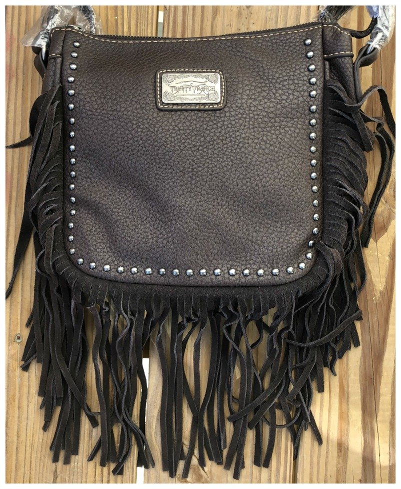 BOHEMIAN COWGIRL MESSENGER Silver Studded Brown GENUINE LEATHER Fringe Messenger Bag