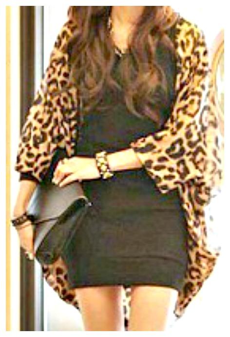 ON THE PROWL JACKET Leopard Chiffon Open Kimono Jacket Cardigan